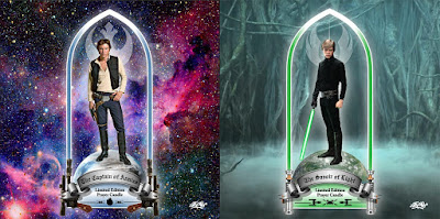 "Star Wars ""Captain of Armies"" Han Solo & ""Savior of Light"" Luke Skywalker Prayer Candles by Sket One"