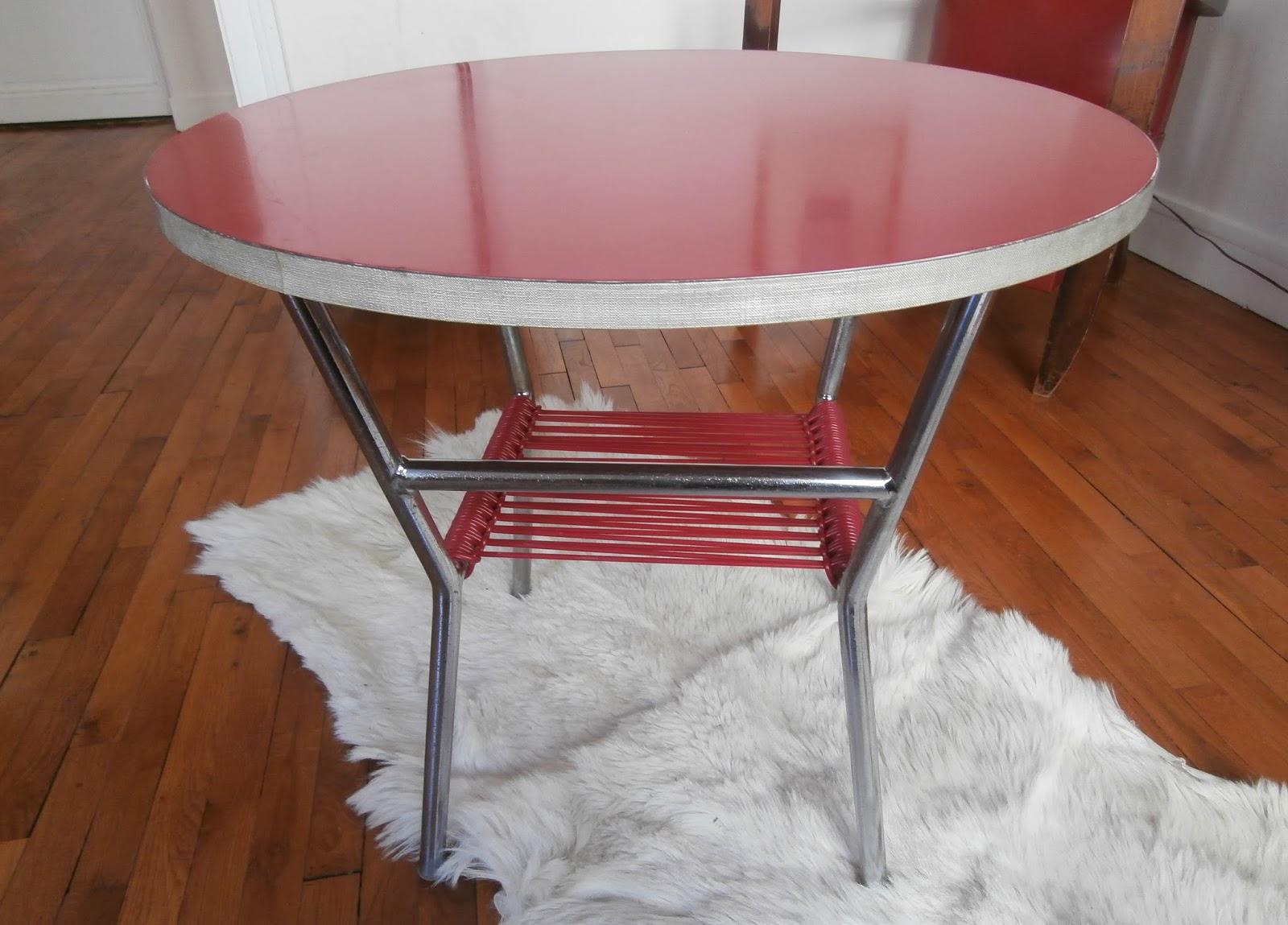 Table Basse En Formica durée de vie indéterminée: table basse ronde formica et