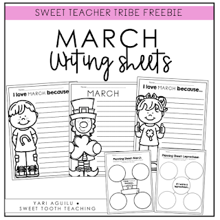 March Writing Sheets