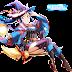 Tags: Render, Blue hair, Cleavage, Garter Belt, Halloween, Love Live! Sunshine!!, Matsuura Kanan, Ponytail, Skirt, Stockings, Thigh Highs