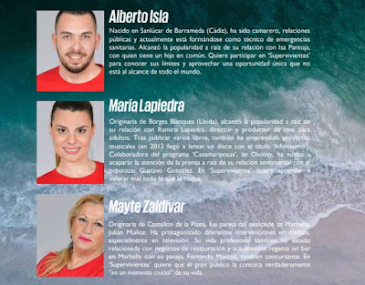 Alberto Isla, Maria Lapiedra y Mayte Zaldivar