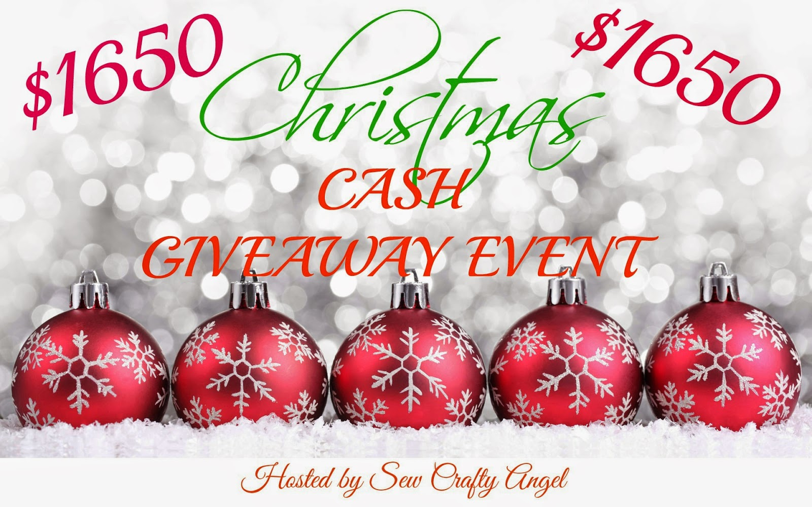 $1650 Christmas Cash Giveaway