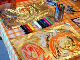Shiny Aluminum Art Necklace- Fun Kids craft