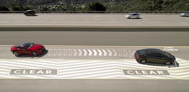 追い越し車線で遅く走るクルマを強制的に退かす最新機能「レクサス・レーン・バレット」※エイプリルフール