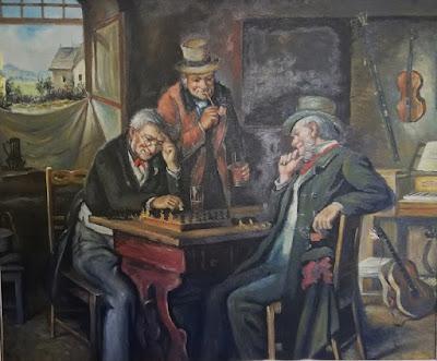 Jugando al ajedrez hace 100 años