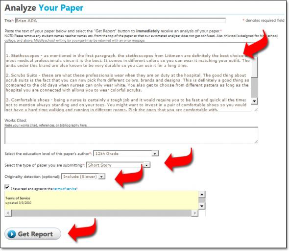 online plagiarism checkers and duplicate content detectors  paperrater com sample results