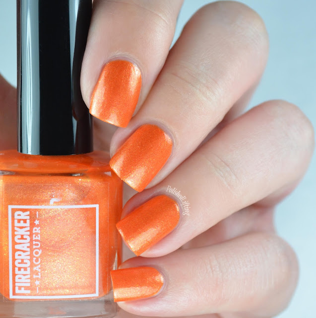 orange flakie polish