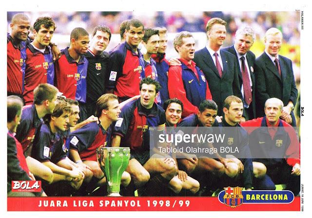 BARCELONA LA LIGA SPAIN 1998/99 CHAMPION