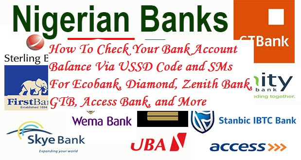 This Is A Compilation Of All The Major Banks In Nigeria That Has Implemented Account Balance Checking Inquiring Via Ussd Codes