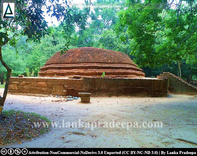 The Stupa of Ovagiriya temple, Ampara