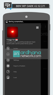 BBM Windows Phone Dark