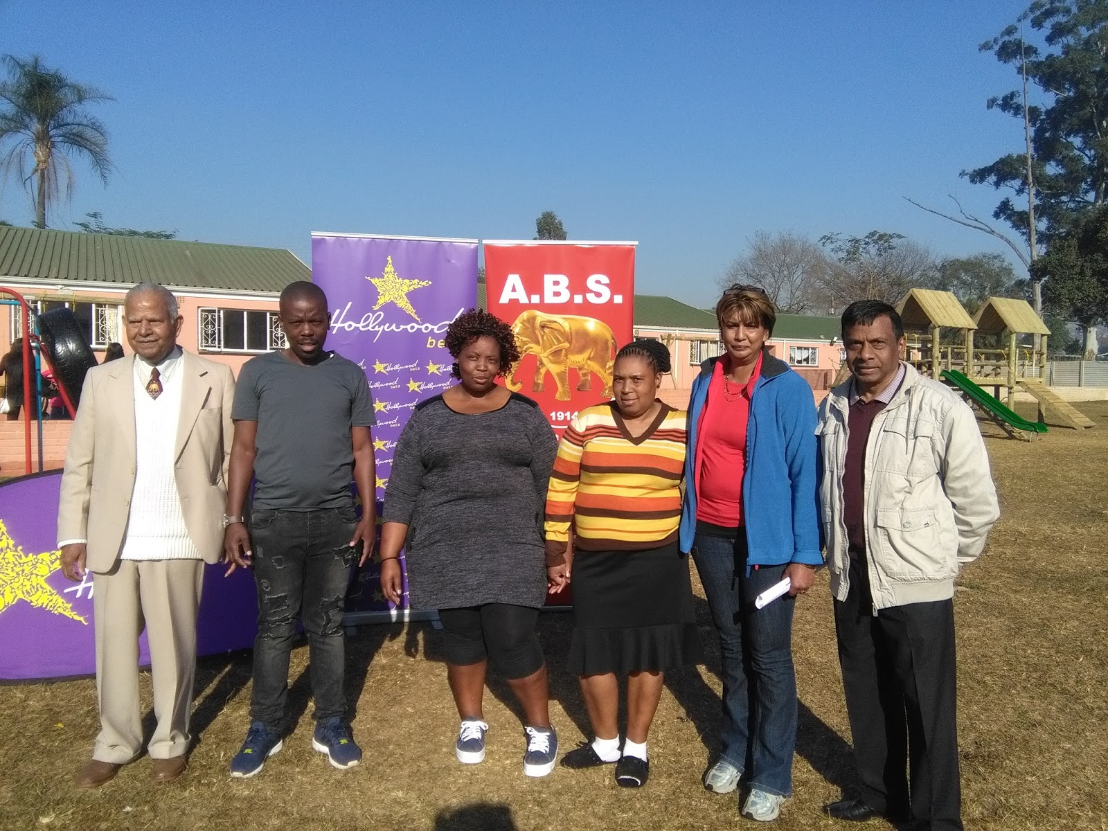 The team from the Sunlit Gardens Home for Children - Hollywoodbets Donations - Social Responsibility - Allandale, Pietermaritzburg - Mandela Day