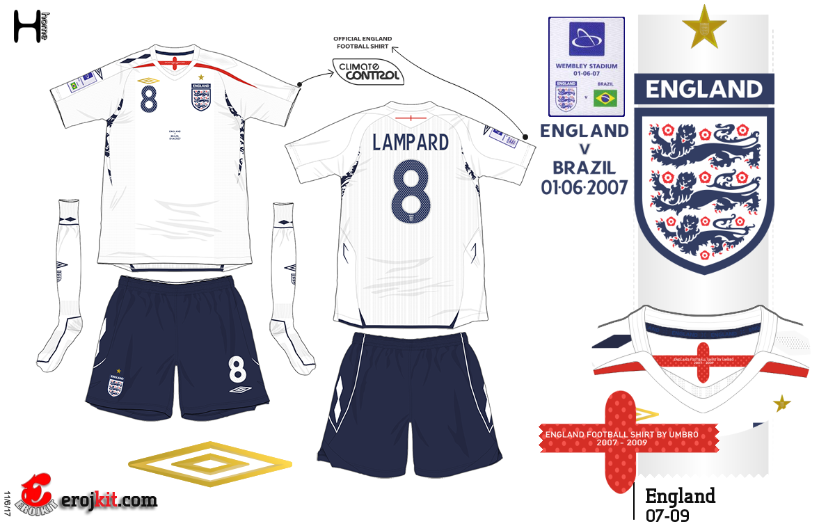 Essa foi a camisa usada na abertura do novo Wembley 40765993dcc7b