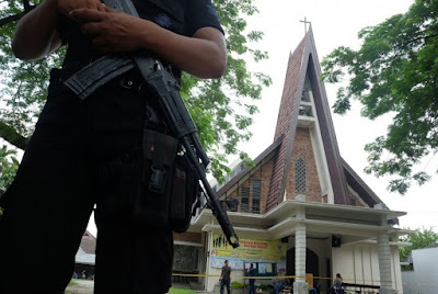 Polisi: Peneror Gereja Medan Ditawari Uang Rp 10 Juta