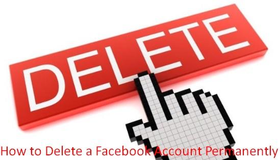 delete facebook account link permanently