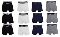 Logo Set di 12 slip o boxer per uomo in varie taglie, 95% cotone a soli €18,90!