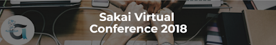 Sakai Virtual Conference 2018 logo-apereo logo/sakaiger on a desk table with fists bumping