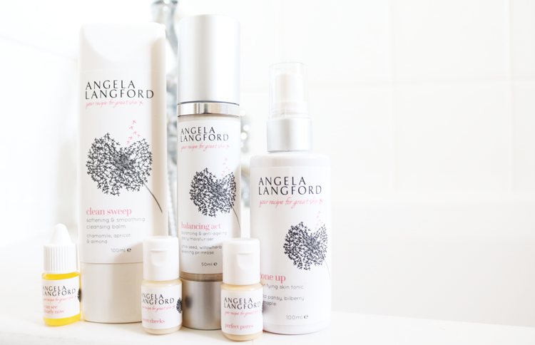 Angela Langford - Clean Sweep Cleansing Balm, Tone Up Purifying Skin Tonic, Balancing Act Daily Moisturiser, Sweet Cheeks Balancing Face Wash, Perfect Pores Face Serum & I Can See Clearly Now Eye Makeup Remover