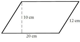 Soal Luas dan Keliling Jajar Genjang Matematika 6 SD