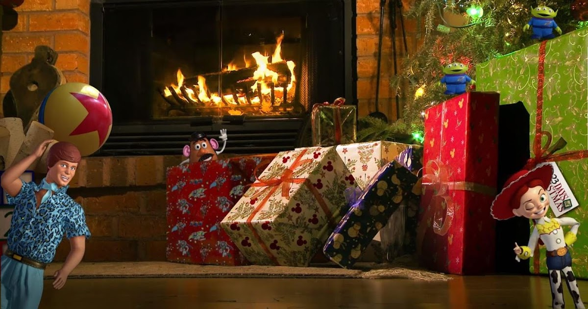 Toy Story Holidays : Looking for the perfect fireplace video this holiday