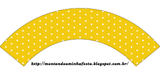 Red, Light Blue and Yellow Free Printable Cupcake Wrappers.