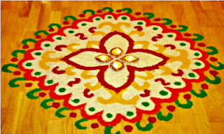Very Simple Rangoli for Diwali