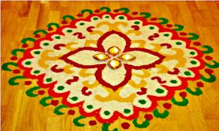 Very Simple Rangoli for Diwali