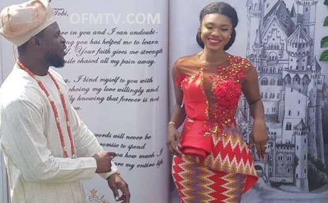 Becca got married to Tobi Oluwatobi Sanni Daniel, ex-manager for Nigerian artiste Ice Prince