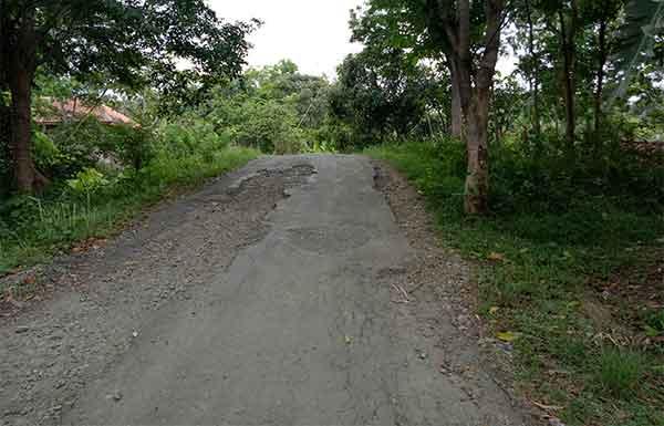 jalan desa bunigeulis kuningan rusak parah