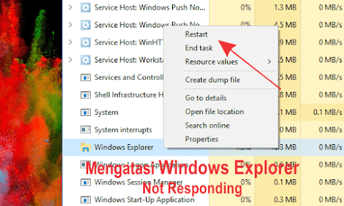 Penyebab Utama File Explorer Not Responding Pada Windows 10