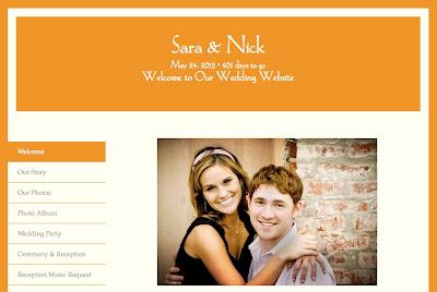 Vera Graphic Border Wedding Website Template