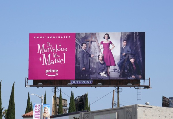 Marvelous Mrs Maisel season 1 billboard