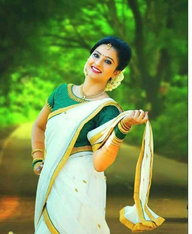 57ddebd277d0b ... 21 Trendy Green Kerala Saree Blouse Designs to try in 2019 Bling