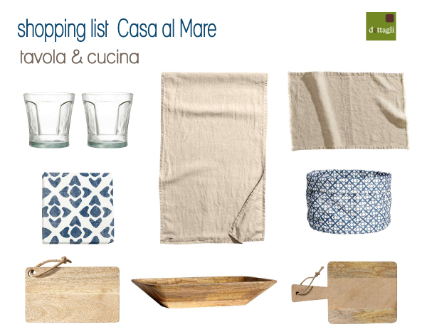 Shopping list per la casa al mare blog di arredamento e for Shopping online arredamento casa