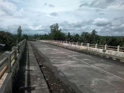 Jembatan muara Cipatujah, panjang juga ya ...