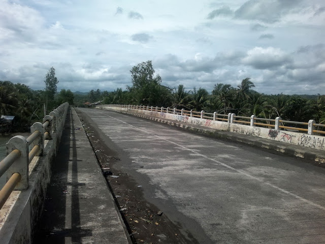 Banyak jembatan panjang sepanjang perjalanan ke Pameungpeuk.