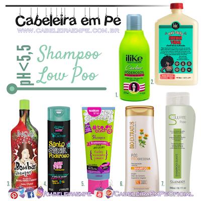 7 Opções de Shampoos Liberados para Low Poo com pH baixo (acidez até 5,5)