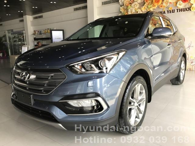 Santafe 2017 màu xanh Hyundai Santafe 2017 máy dầu màu xanh 05