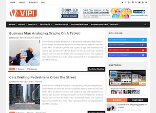 vipi blog blogger template responsive