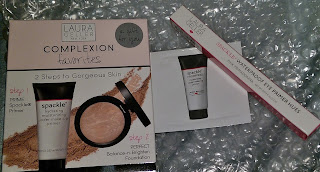 Complexion Favorites LG spackle-primer evens tones face foundation baked compact gold gift with purchase