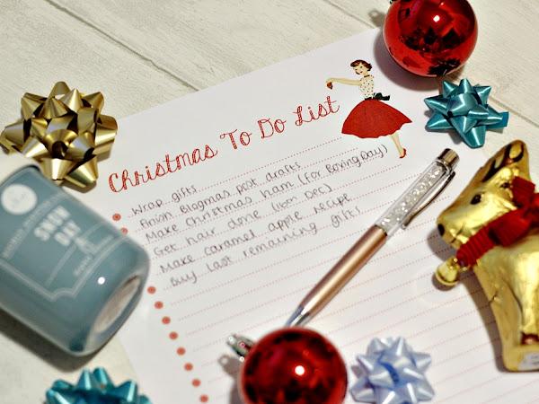 Christmas Printable To Do List