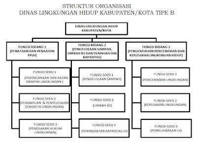 Struktur Organisasi Dinas Lingkungan Hidup Kabupaten/ Kota tipe B