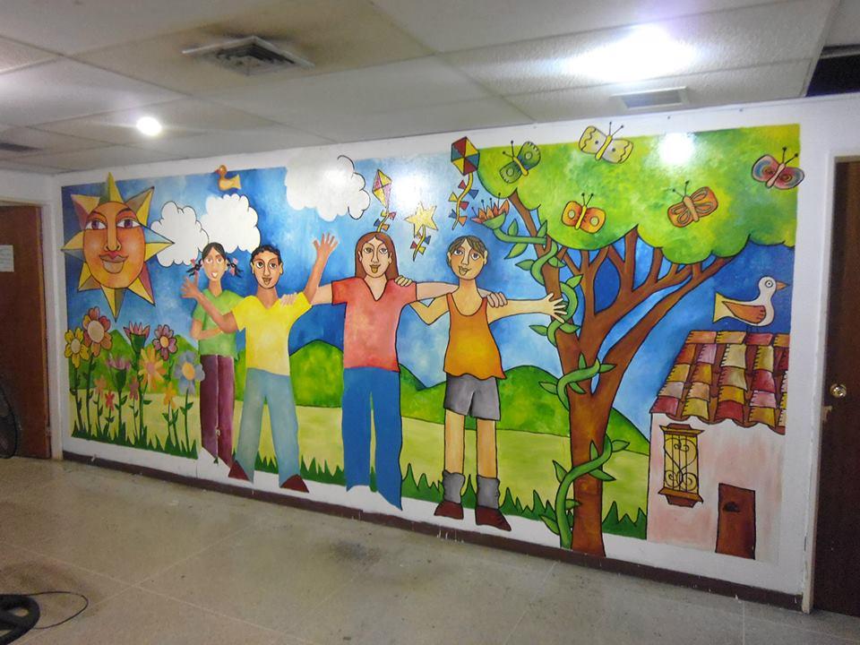 Murales mural consejo municipal de derechos del ni o ni a y adolescente - Murales para ninas ...