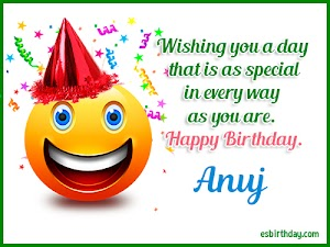 Happy Birthday Anuj