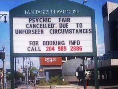 Psychic Fair Cancelled due to unforeseen circumstances