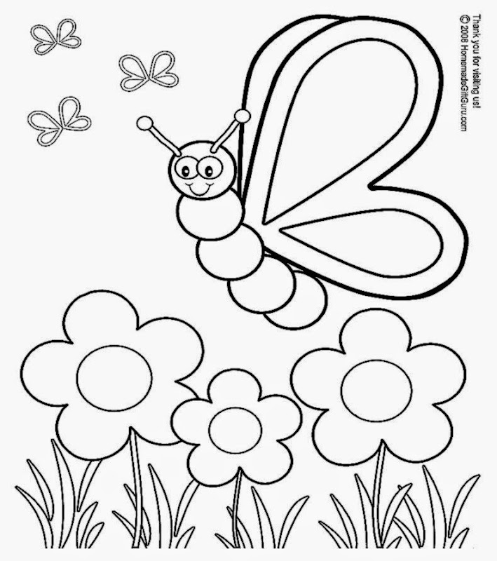 Silly Butterfly Coloring Page   Free Printable Coloring Book Page