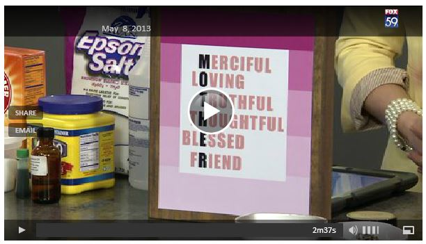 Mother's Day - handmade mother's day gift ideas - video - #mothersday #mothers #diygiftideas @SimplyDesigning and @Fox59