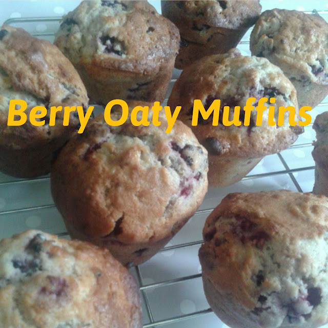 Berry Oaty muffins