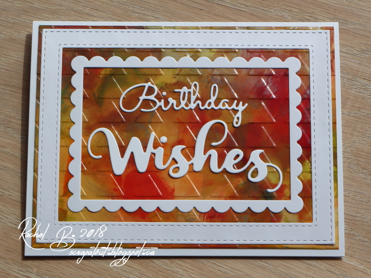 Handmade card, alcohol inks, Impression Obsession dies, We R Memory Keepers embossing folder