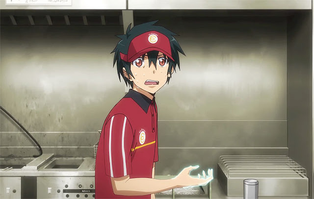 sadao maou part timer fast food red shirt red cap shounen overpowered in kitchen